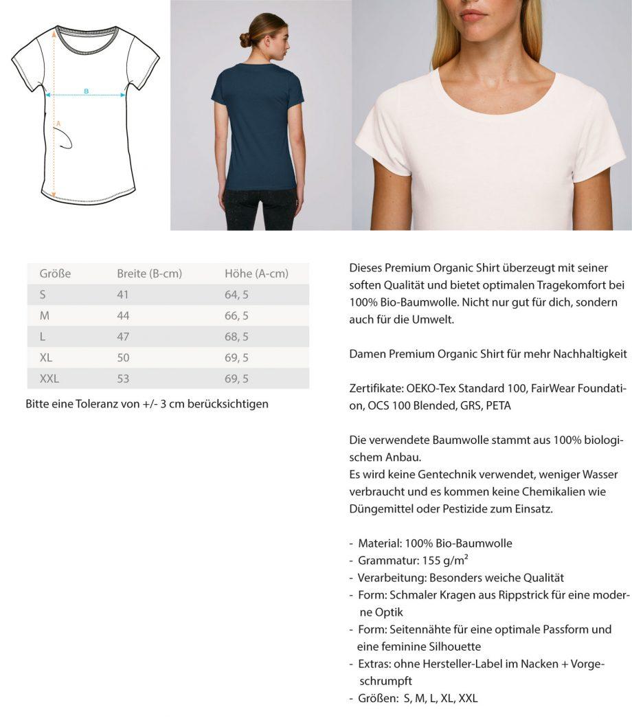 BornToShoot  - Damen Premium Organic Shirt 1