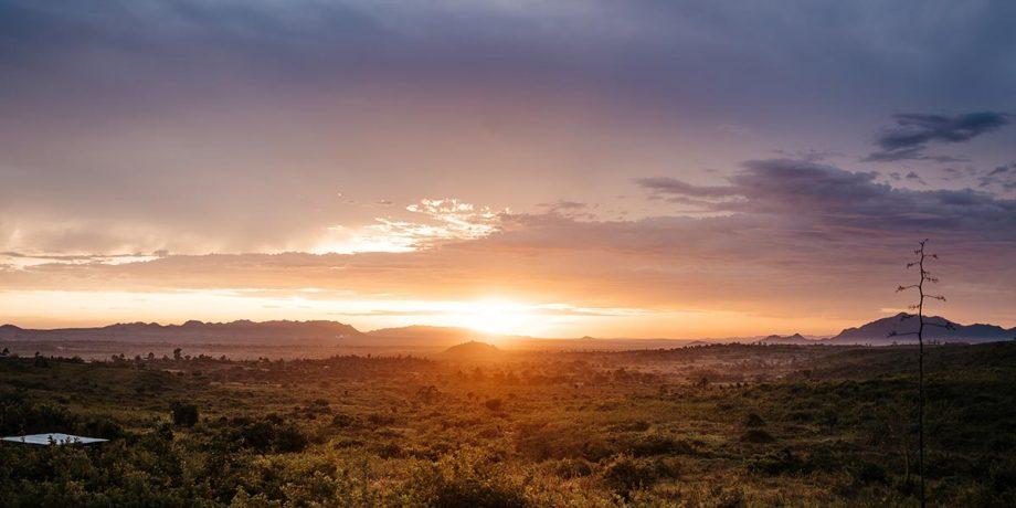 Wandbild Sonnenuntergang in Tanzania 3
