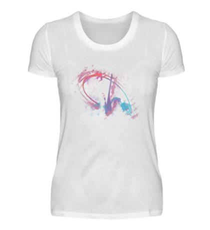 Painted D-Shirt - Damen Premiumshirt-3