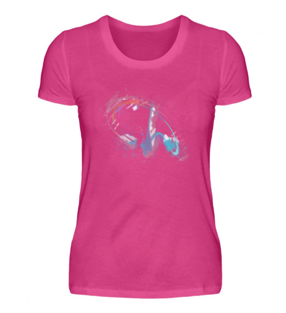 Painted D-Shirt - Damen Premiumshirt-28