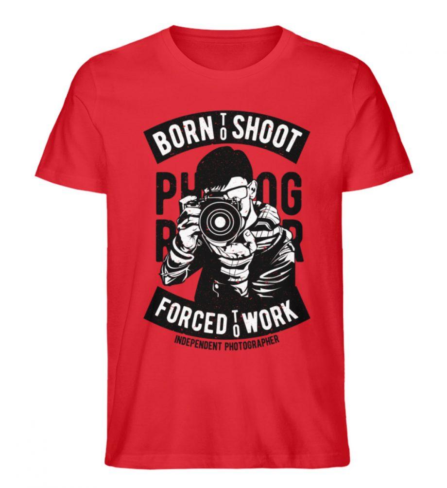 BornToShoot - Herren Premium Organic Shirt-6882
