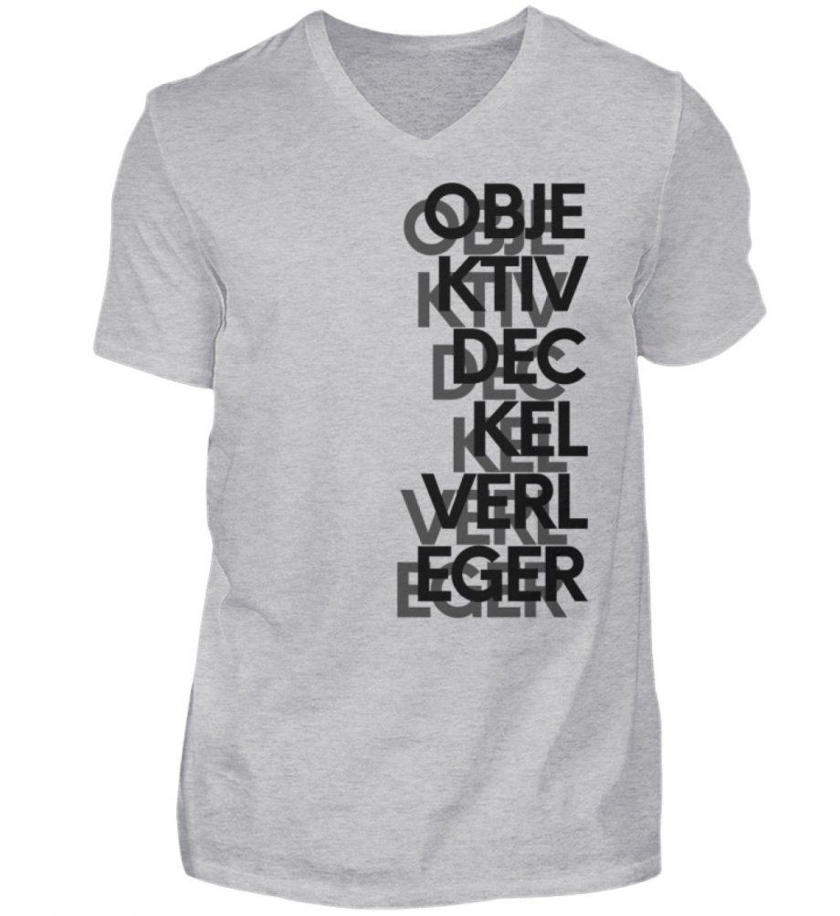 Objektivdeckelverleger - Herren V-Neck Shirt-17