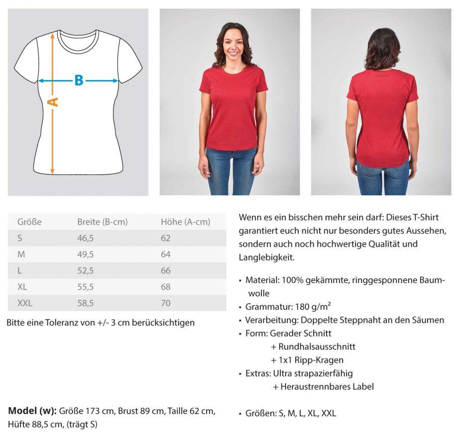 Painted D-Shirt - Damen Premiumshirt 1