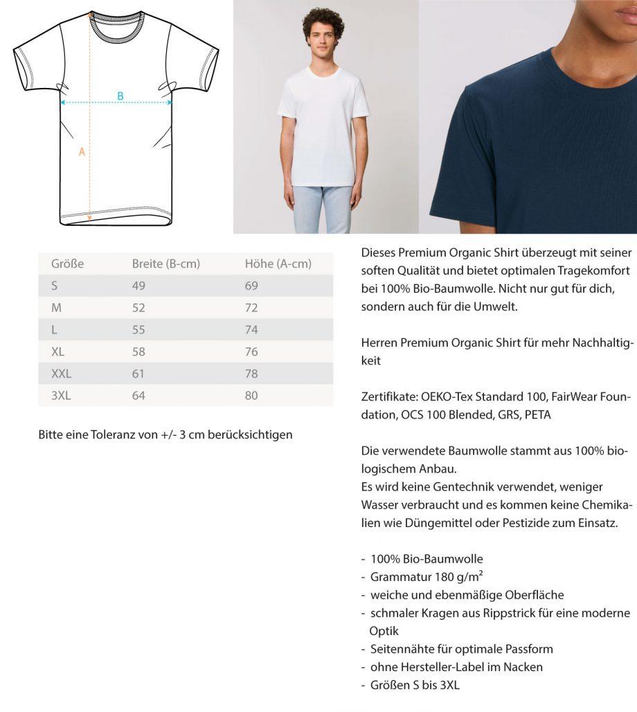 BornToShoot - Herren Premium Organic Shirt 1
