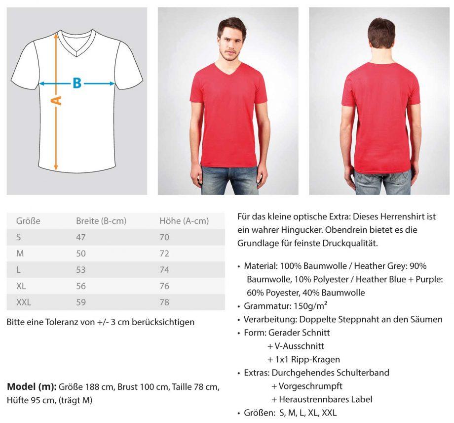 Objektivdeckelverleger - Herren V-Neck Shirt 1